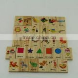 Wooden mini brick domino toys for kids