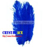 Top quality animal feather trimming ,Sapphire blue / cpbalt ostrich feathers for Carnivel Costumes decorations