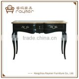 Antique provincial black shabby chic table with drawers French console table                                                                                                         Supplier's Choice