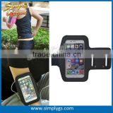 (Hot hot) Neoprene+Lycra armband for iPhone 6, Lycra wholesale armband, Lycra mobile phone armband