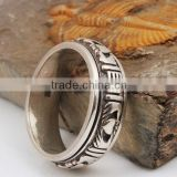 Men Customized Big Sized 925 Sterling Silver Ring from Yiwu Manufacturer