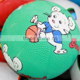 5 inches basketball type sports rubber toy balls