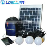 Compact and portable 6W 21V solar home lighting system