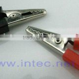 Jumper Wires Alligator Crocodile Roach Test Clip Plastic Handles Crocodile clips 35mm red or black color I00096
