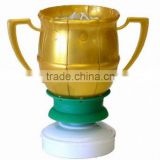 popular celebrated candles golden soccer rotating musical candles in PVC box