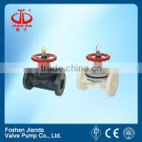 1/2'' flange type elastic rubber lined pvc plastic diaphragm valve                                                                         Quality Choice