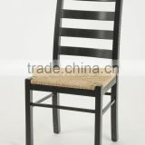 Rustic wooden home useful Webbing seat Black armless dining chair/ Restaurant chair(New Product)