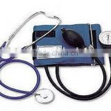 aneroid sphygmomanometer with single head stethoscope