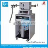 Laboratory high temperature tube furnace with turbo pump/high vacuum horizontal tube furnace