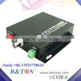 1Ch HDCVI / AHD / TVI Video Converter Fiber Optic to Coaxial Converter 720P 960P 1080P
