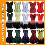 PGWC2597 Sexy womens halloween lace up boned corset tutu fancy dress outfit costume S-XXL