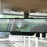3.5 inch dual lens 720P Rearview Mirror Car DVR, in car with camera, roof mount car camera                                                                         Quality Choice
