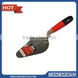 5'' carbon steel blade Bricklaying Trowel with natural color Wooden Handle Metal End Cap