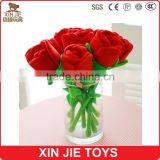customize plush rose nice plush bouquet soft red rose