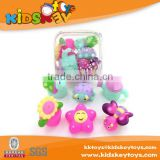 Promotional 6pcs pvc bath toy set/ floating vinyl bath toy in bathtime for fun