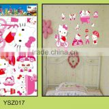 cute cartoon children room decoration removable pvc wall sticker /2015 hot sale safe&non-toxic DIY product