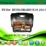 car dvd vcd cd mp3 mp4 player fit for Chevrolet Colorado S10 2013 with radio bluetooth gps tv pip dual zone