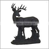 Door Decor Black Life Size Brass Deer Statue Sculpture for Sale
