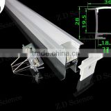 Recessed LED Strip Light Mounting Channel Aluminum LED Channel With Spring Clips