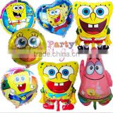 45.3*57.2cm Spongebob Aluminum foil helium balloons Happy Birthday Party Baby Shower                                                                         Quality Choice