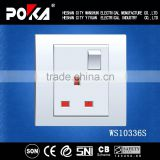 Single 250V 13A switch socket outlet, electric switch and socket modern