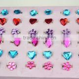 Plastic acrylic finger ring colorful glitter rings for kids                                                                         Quality Choice