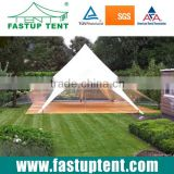 Aluminum white PVC fabric waterproof star shade tent for wedding party glamping outdoor event in Guangzhou                                                                                                         Supplier's Choice