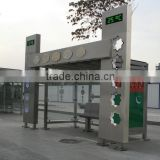 Modern Style Stainless Steel Bus Stop Shelter in Good Design with Light Box for Construction