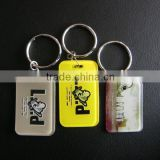 Fashion custom logo plastic rubber key chain