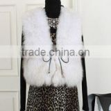latest fashion dresses simple graceful real fox fur vest for girls
