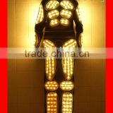 Programmable LED Light Tron Dance Suit, Wireless DMX512 Robot LED Costume