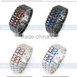 Stainless steel Army style led watches men