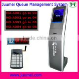 Wireless bank queue system multi-media touch kiosk restaurant equipment