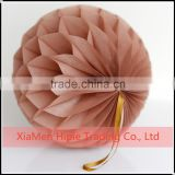 Mocha Tissue Paper Pom poms Honeycomb Balls Round Paper Lanterns Wedding Party Decoration