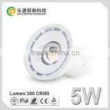 97Ra cob led CE Rohs dimmable 5w led bulb light GU10 220v 50*50mm lamp Size same as halogen
