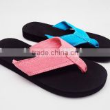 2016 New Cloth Strap EVA Flip Flop Slippers for Women                                                                         Quality Choice