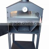 wood fired pizza stone steel outdoor oven