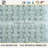Natural Marble Brown, Green, Yellow Super mixed Mosaic Polished, Bathroom , Kitchen Wall, Decorative Stone Mosaic
