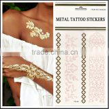 costom gold silver foil temporary tattoo sticker necklace bracelets tattoo metalic fake tattoo/tatoos/tatto