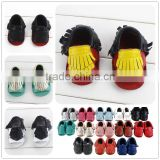 baby genuine leather moccasin shoes sandals