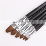 6pcs High Grade Artists Classic All Media Watercolour Brush set Filbert Head Matte Handle paint Brush Pen