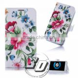 Wholesale Popular Painting Beautiful Pattern Design Book Style Flip Cover Case For Wiko Bloom mobile phone case cover