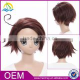 New product high quality wig in stock Axis Powers Hetalia Korea brown short wig anime