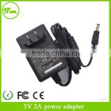 3.5mm US plug adaptor 5V2A black wall charger for crystal flame elf
