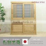 Easy to use and Fashionable solid wood kitchen cabinet in japan with various kind of wood