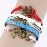 Accessories boat anchor ancient seahorses fashion bracelet