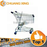 machining high quality Zinc Plated aluminum supermarket trolley