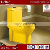 glaze smooth toilet bowl color, one piece sanitary ware ceramic yellow toilet, wc ceramic color toilet