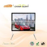 More Portable Fast Folded projection Screen With Aluminium Alloy Case And Nickel Plating Steel Without Rust