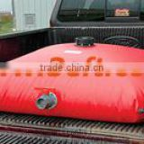 Collapsible fuel bladder/tank for truck base or platform
